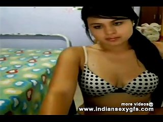Hot Desi CollegeGirl exposing front on webcam - indiansexygfs.com